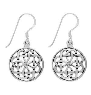 Load image into Gallery viewer, Sterling Silver Celtic Knot Dangle Earrings