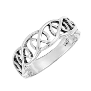 Load image into Gallery viewer, Sterling Silver Celtic Love Knot Ring