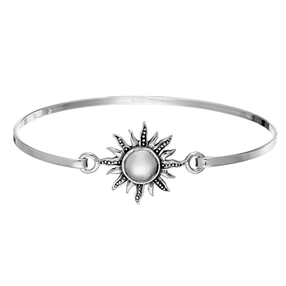 Sterling Silver Blazing Sun Bangle