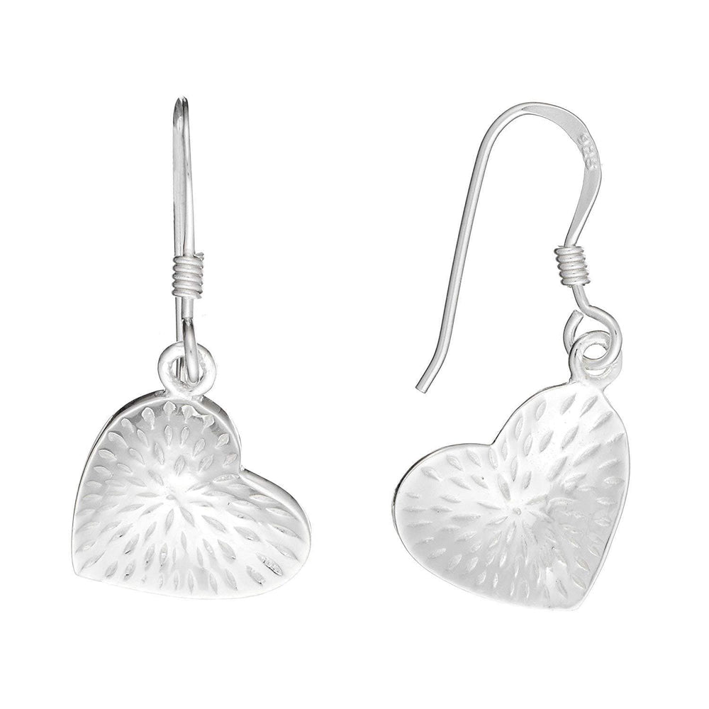 Load image into Gallery viewer, Sterling Silver Love Heart Dangle Earrings