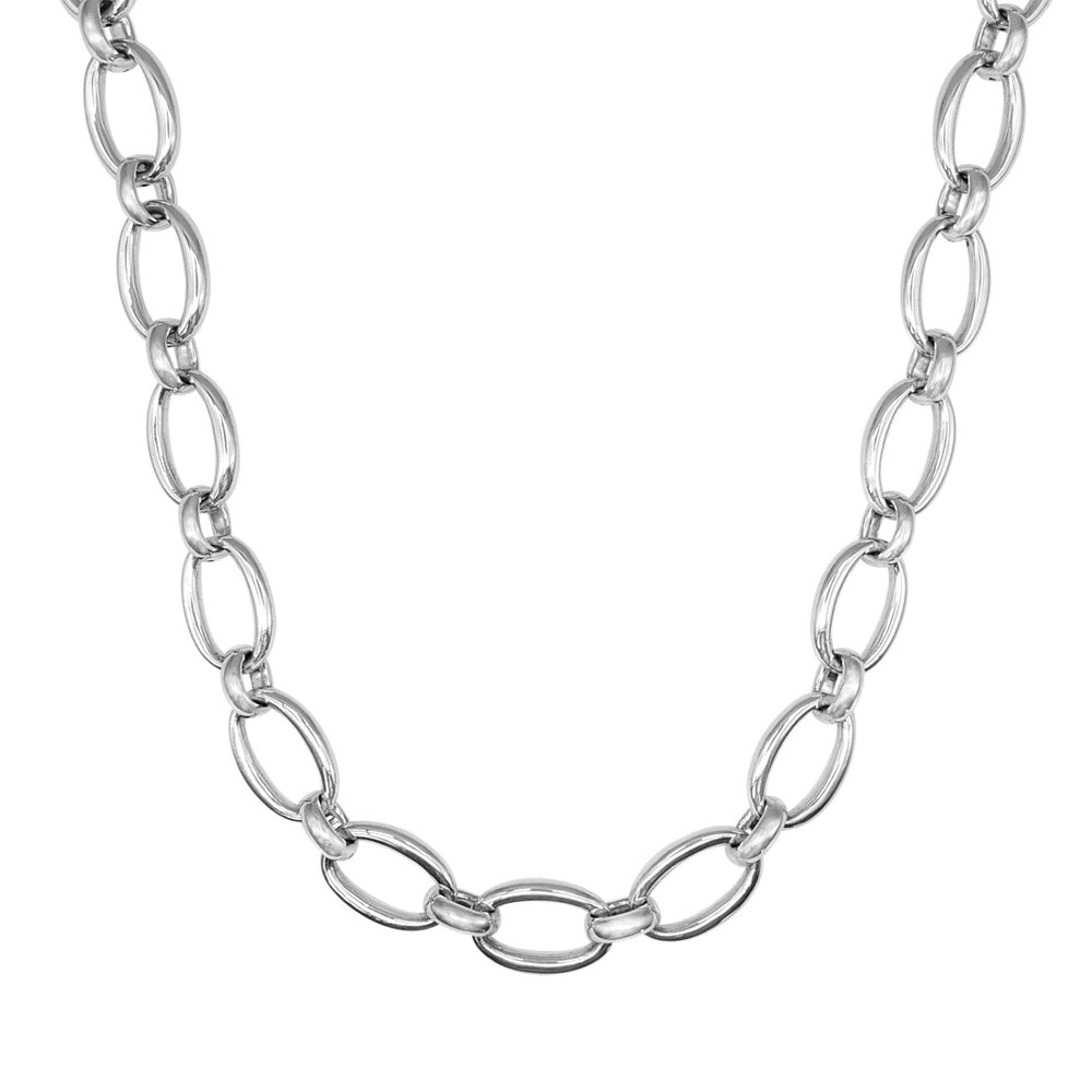 Sterling Silver Electroform Chunky Cable Chain Necklace