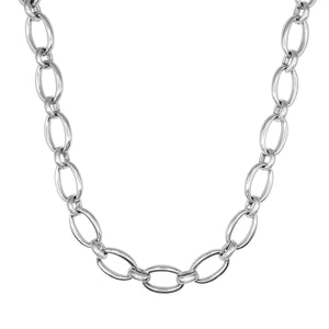 Load image into Gallery viewer, Sterling Silver Electroform Chunky Cable Chain Necklace