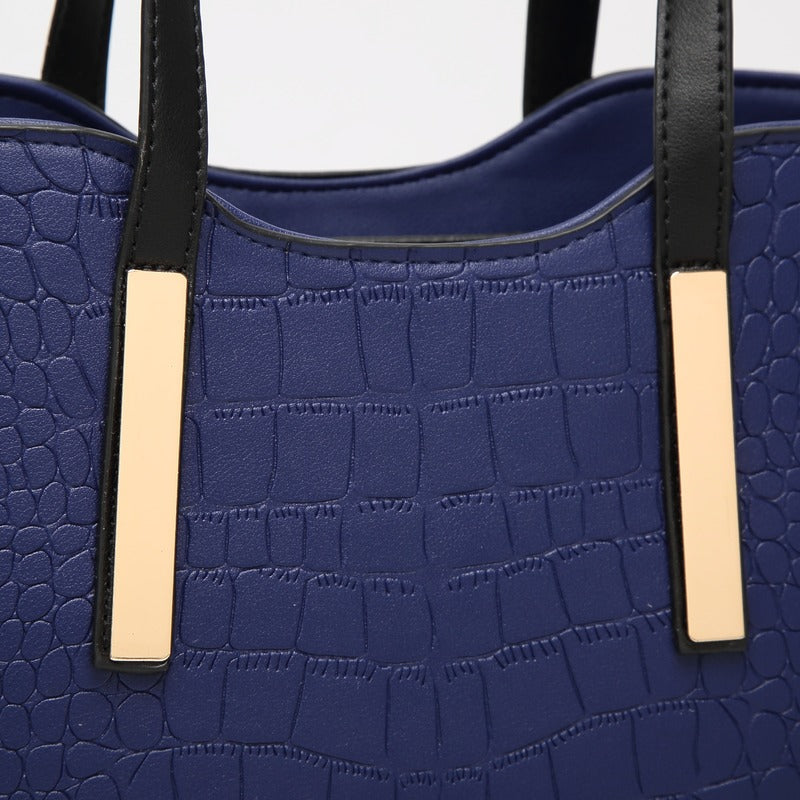 Women's Bag Emboss fashion boutique one-shoulder hand-held women's bag crocodile-print diagonal cross-child female bag