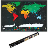 Personalized Deluxe Scratch Off Map Poster of the World for Travelers