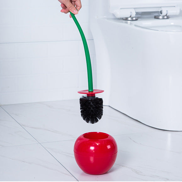 Cherry Shape Lavatory Brush Toilet Brush & Holder Set