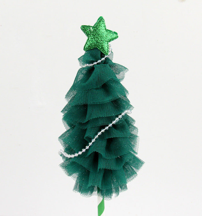 Green Handmade Holiday Party Christmas Tree Cake Topper Birthday Cake Decoration