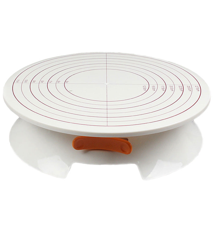 360 Degree Plastic Revolving Cake Stand Rotating Cake Decorating Turntable