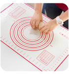 60x40CM Non-Slip Silicone Pastry Fondant Cake Kneading Mat With Measurements