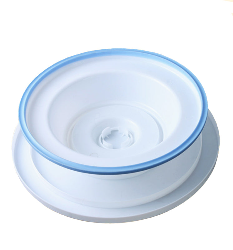 Rotating Cake Turntable Plastic Round Decorating Cake Stand With Rubber Band