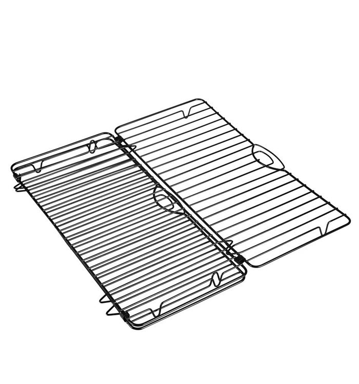 Non-Stick Foldable Retangle Wire Cooling Rack for Cake Bread Baking Foods