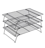 3-Tier Stackable Steel Wire Cooling Rack Grid For Cooling And Holding Baking-Food