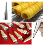 5Pcs Croissant Moulds Cream Horns Pastry Roll Moulds, Baking Tools