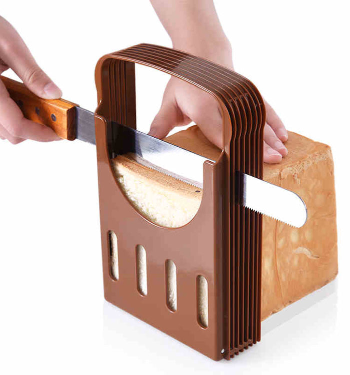 Foldable Adjustable Compact Bread Cutter Toast Slicer Mold Sandwich Maker