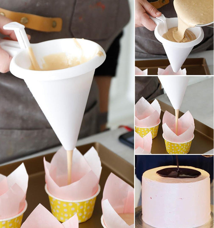 Adjustable Chocolate Funnel Batter Dispenser Cream Cookie Cupcake Pancake Muffin Funnel
