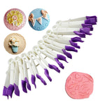 10pcs Plastic Lace Engraving Fondant Cake Clip Cookie Embossing Mould