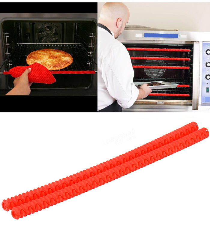 2Pcs Heat Resistant Silicone Oven Rack Guards Shields