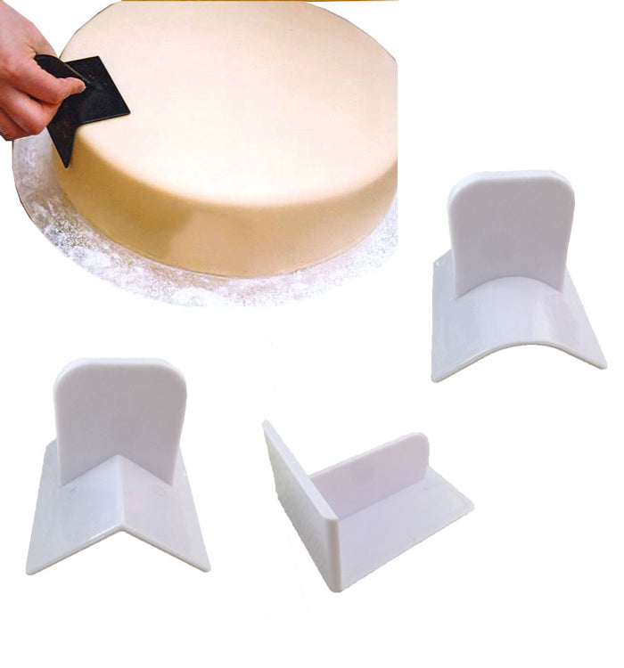 3Pcs Plastic Fondant Cake Polisher Smoother Paddle DIY Baking Tools