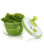 Vegetable and Salad Spinner with Pouring Spout Green And White 5L