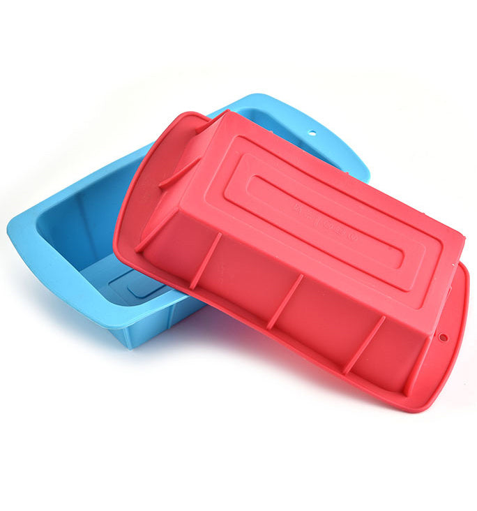 Rectangle Silicone Muffin Cake Pans Moulds Baking Cups Nonstick Liners