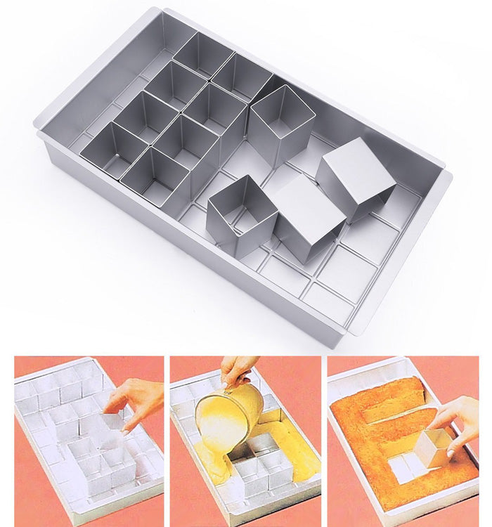 Alphabet Letter Number Cake Tin Pan Decorating Cutter Tray Mould Set