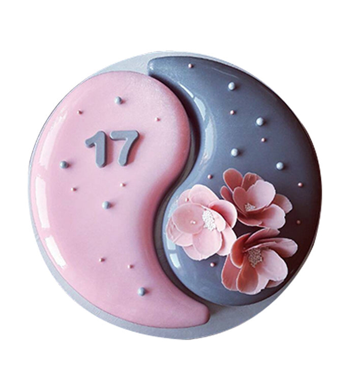 1Pcs Yin Yang Tai Chi Silicone Mousse Chocolate Cake Mould Pan