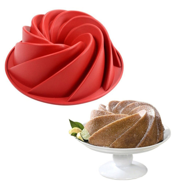 Large Spira Bundt Shaped Silicone Cake Mould Cake Pan