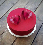 3D 8 Cavity Diamond Love Heart Shaped Silicone Moulds for Mousse Chiffon Cake