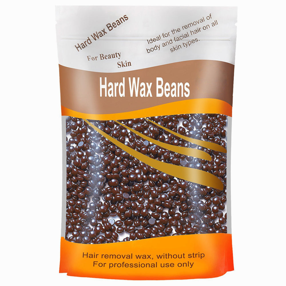 Chocolate Flavor Hair Removal Hard Wax Beans Hard Body Wax Beans For Facial Arm Legs 300g/bag