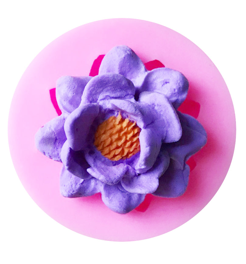 3D Lotus Flower Fondant Bithday Cake Chocolate DIY Silicone Decorating Mould