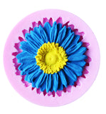 Sunflower Chrysanthemum Cake Cupcake Fondant Silicone Decorating Craft Mould