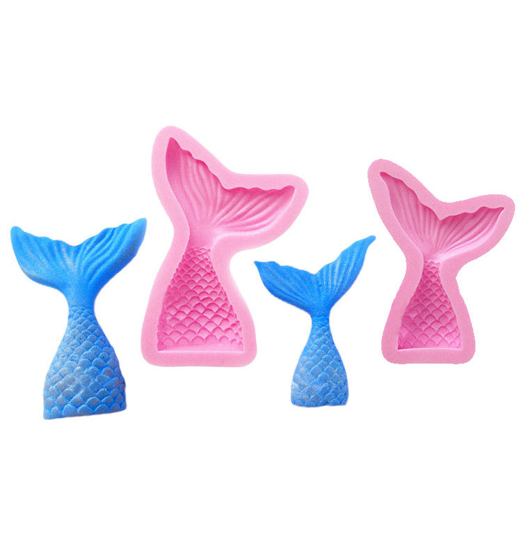Mermaid's Tail Silicone Fondant Mould For Cake Cupcake Decorating