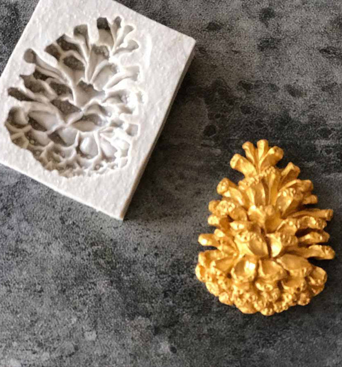 Pine Cone Shape Christmas Fondant Cake Chocolate Silicone Decorating Mould
