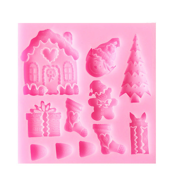 Kids' Birthday Baby Shower Cake Cupcake Fondant Chocolate Silicone Mould