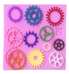 Different Shapes Of Wheel Gear Fondant Cake Cupcake Pastry Silicone Mould