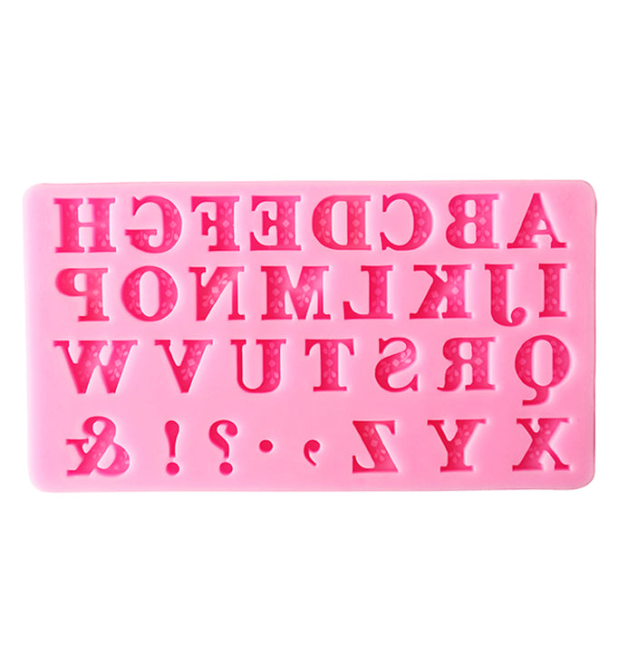 Letter & Punctuation Mark Silicone Fondant Cake Decorating Mould