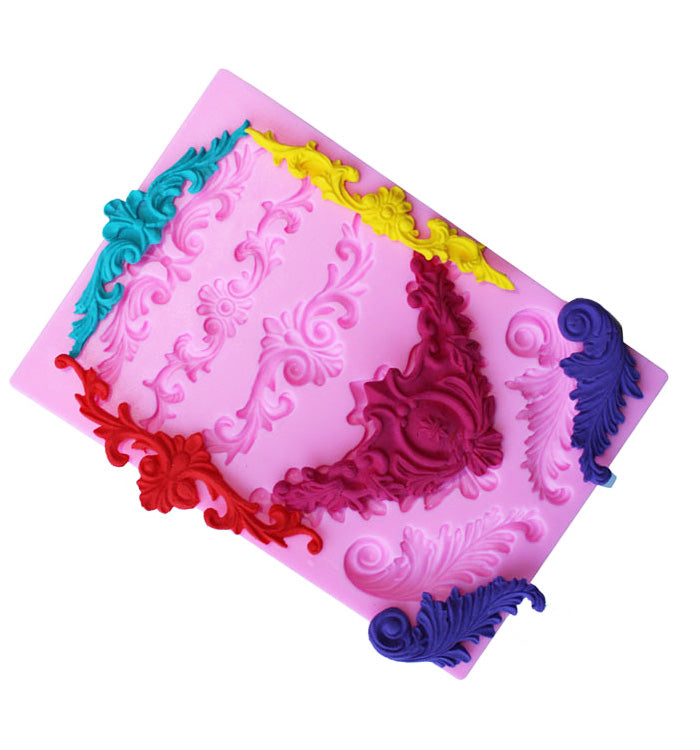 3D Decorative Pattern Lace Silicone Fondant Cake Mould