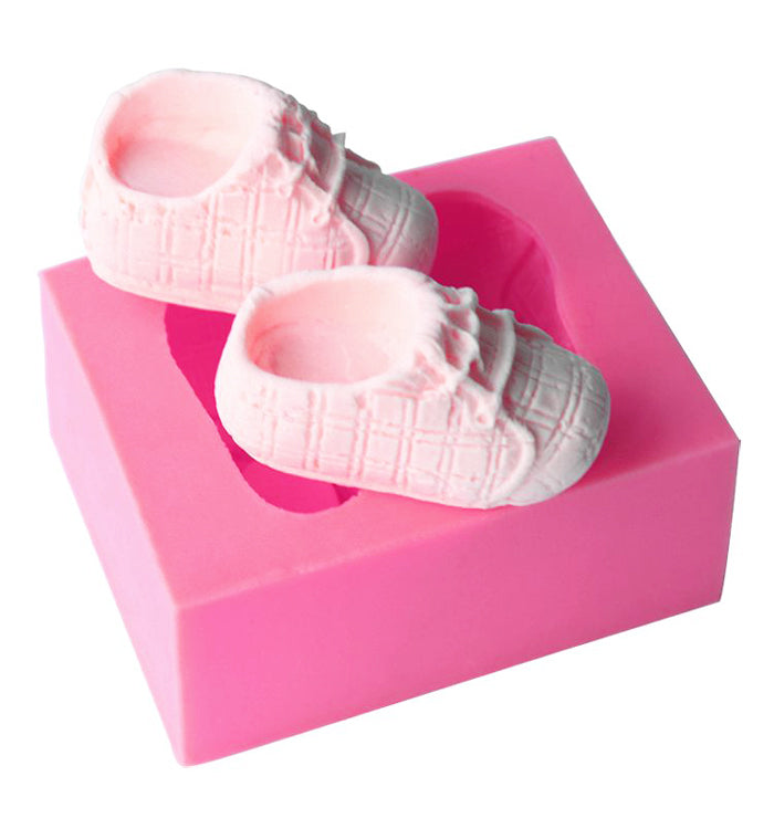 2 baby Shoes Silicone Candy Chocolate Clay Sugarcraft Cake Fondant Mold Mould