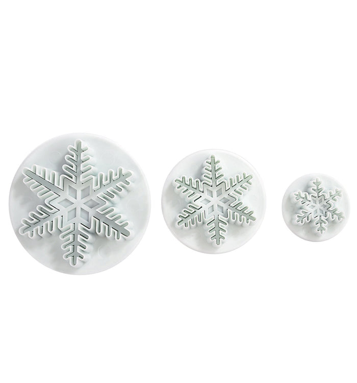3Pcs/Set Snowflake Fondant Plunger Cutter Sugarcraft Cake Mould