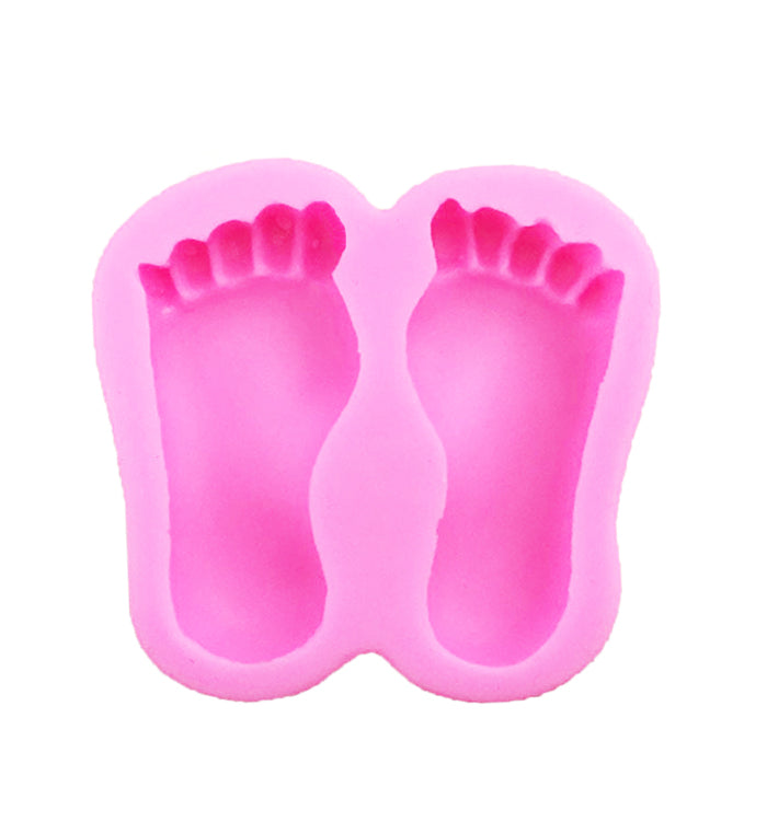 3D Baby Feet Fondant Birthday Cake Chocolate  DIY Baking Silicone Mold Mould