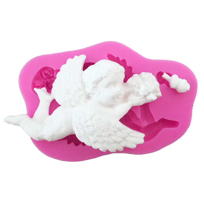 Cupid With Arrow Silicone Cake Sugarcraft Fondant Chocolate Decorating Mould