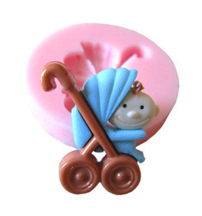 Baby With Parm Babyshower Silicone Cake Fondant Decorating Mould