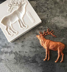 Elk Silicone Fondant Mould For Christmas Party Cake Chocolate Pastry Decoration