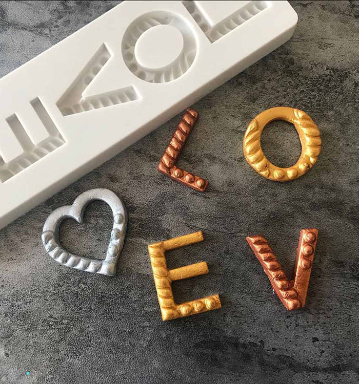 LOVE Letters Silicone Fondant Mould For Anniversary Wedding Cake Decoration