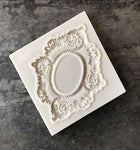 Vintage Embossed Mirror Frame Silicone Fondant Mould For Cake Decoration