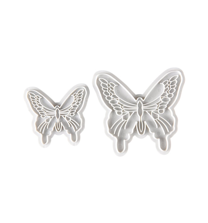 2Pcs Butterfly Cake Decorating Cutter Fondant Embossing Moulds
