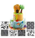 6Pcs Plastic Hawaii Theme Sea Shells Flowers Fondant Mat Sheet Cake Mould