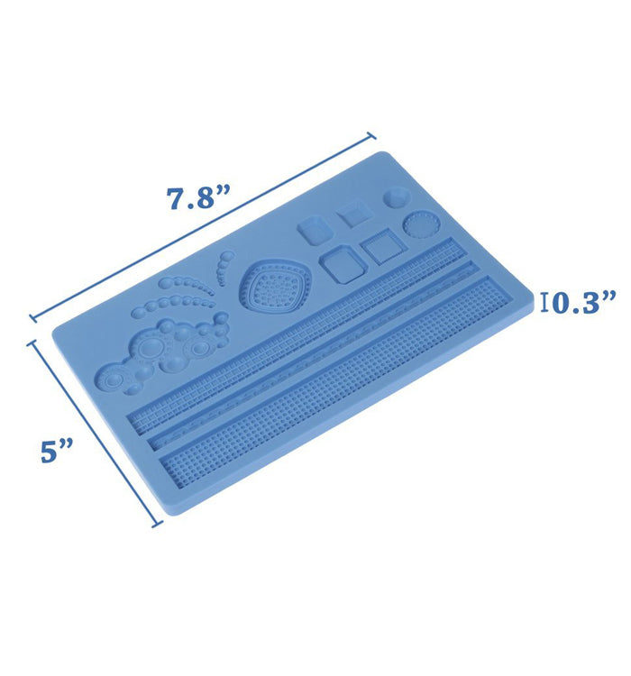 Jewelry Lace Silicone Fondant Mat Embossing Mould Cake Decoration