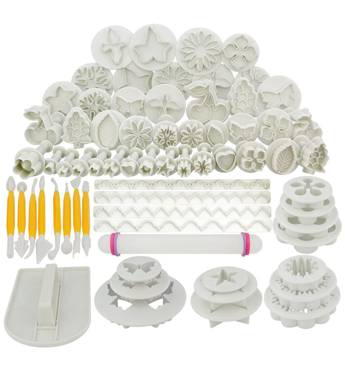 21 Sets (68pcs) Fondant Cake Cookie Cutter Mould Decorating Modelling Tools