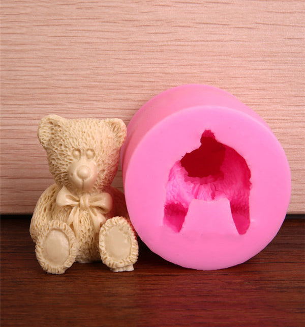 3D Bear Fondant Silicone Sugarcraft Cake Chocolate Soap Baking Mould