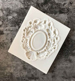 Vintage Embossing Mirror Frame Border Silicone Fondant Cake Mould